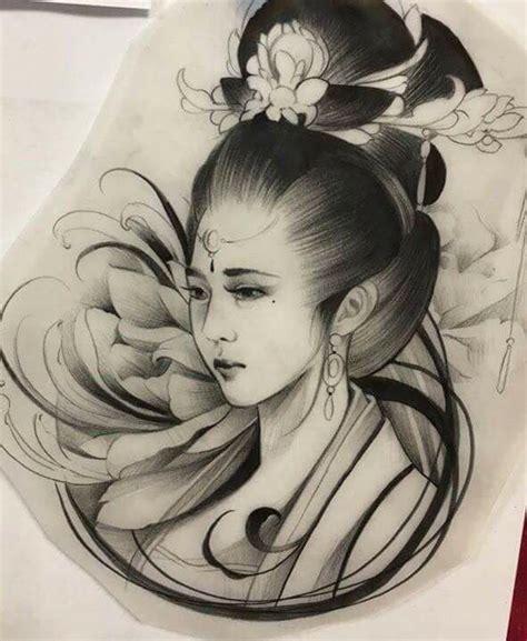 geisha kriegerin tattoo die besten 25 japanische geisha ideen auf pinterest