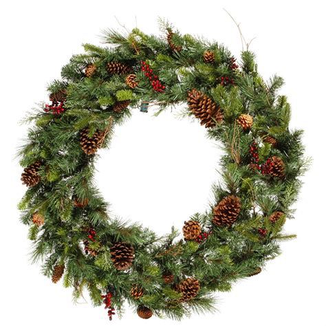 36 inch cibola mixed pine wreath unlit g118736 vickerman