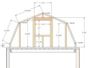 Gambrel Barn Plans gambrel barn plans micro gambrel plans tiny house design