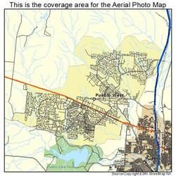 aerial photography map of pueblo west co colorado