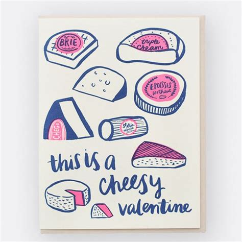 cheesy valentines day s day cards from hello lucky paper crave