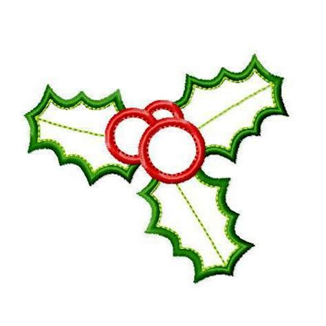 christmas design christmas holly applique machine embroidery design