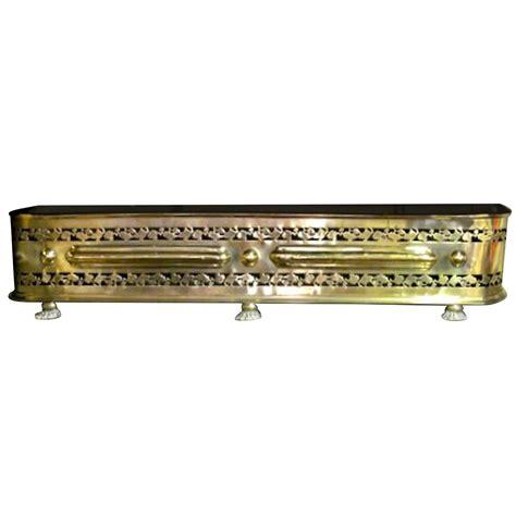 antique english pierced brass george iii fireplace fender