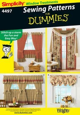 Kitchen Curtain Sewing Patterns Window Treatments Sewing Patterns And Home On