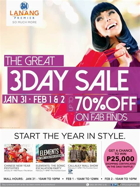 sm new year sale shop and win p25 000 at sm lanang premier s the great 3