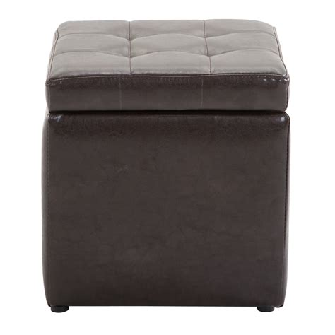 faux leather cube ottoman faux leather storage footrest ottoman cube removable lid