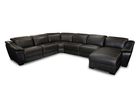 divani casa jasper modern black leather sectional sofa