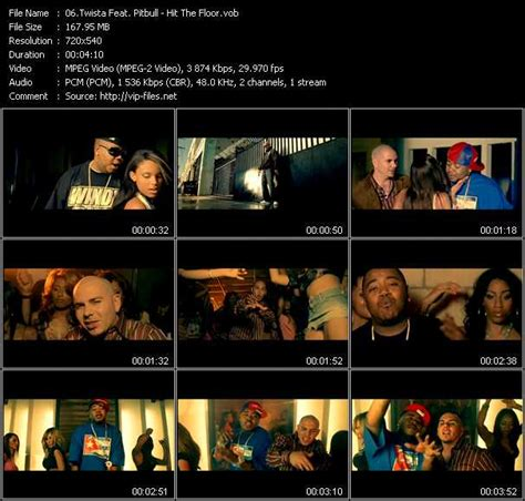 twista feat pitbull hit the floor download high quality video vob