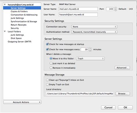 email hosting indonesia cara setting email pada thunderbird web hosting murah