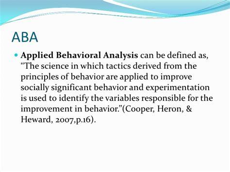 pattern analysis aba power point aba