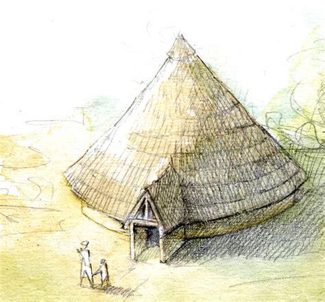 hutte gauloise dessin esquisse d un b 226 timent caract 233 ristique de la fin de l 226 ge