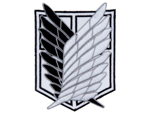Kaos Scouting Legion Attack On Titan Wings Anime attack on titan scouting legion badge 183 sweet stuff