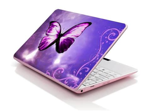 Laptop Apple Purple laptop notebook skin sticker cover deco purple butterfly 17 quot asus acer hp apple ebay