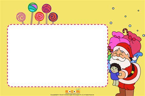 printable christmas frames christmas candies printable photo frames for kids mocomi
