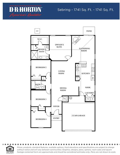 Dr Horton Monterey Floor Plan Floor Plans Samara Lakes Community In St Augustine Florida