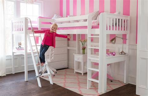 girl loft beds kids beds kids bedroom furniture bunk beds storage maxtrix