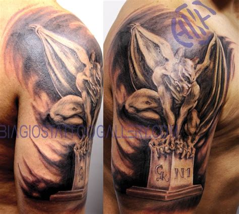 gargoyles tattoo biagio s gallery tattoos lettering quot gargoyle