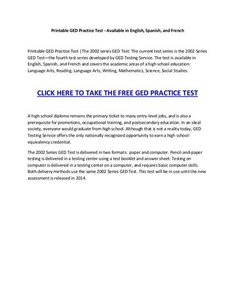 printable ged practice test printable ged practice test