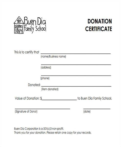 donation gift certificate template 32 certificate templates in pdf free premium templates