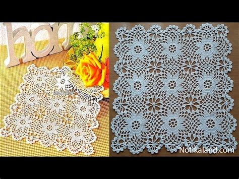 Crochet Motif Patterns For Tablecloth Part 5 How To Join crochet doily crochet motif for doily tablecloth part 1