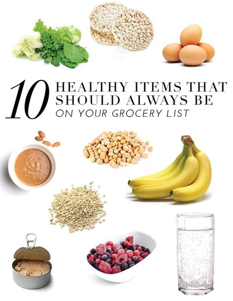 new year food items 10 healthy items that should always be on your grocery
