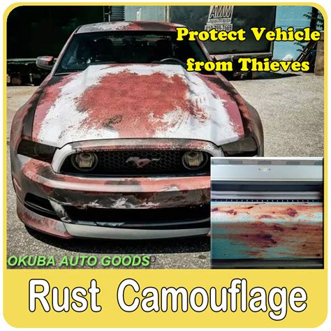 23 kinds different rust vinyl wrap camouflage vinyl for car wrap iron car