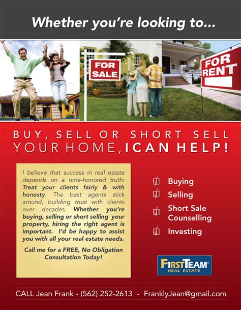 flyer template real estate marketing 6 best images of mortgage flyer ideas real estate agent
