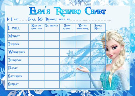 printable frozen sticker chart frozen themed laminated a4 reward chart ebay