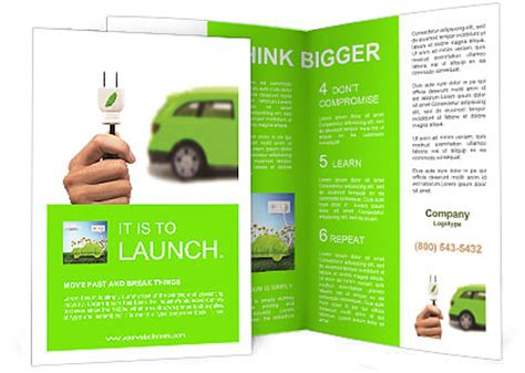brochure templates electrical electric car concept for the future brochure template