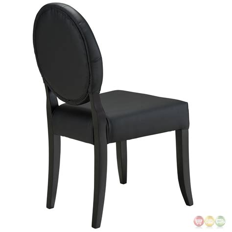 Black Tufted Dining Chairs Button Contemporary Button Tufted Vinyl Dining Side Chair Black