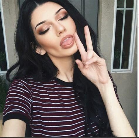 Lipstick With Burgundy Shirt t shirt madeleine fashion burgundy crop tops instagram make up wheretoget