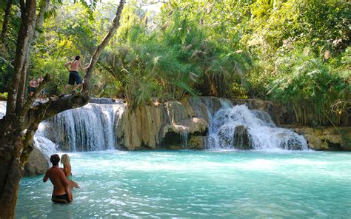 kuang  waterfall  luang prabang