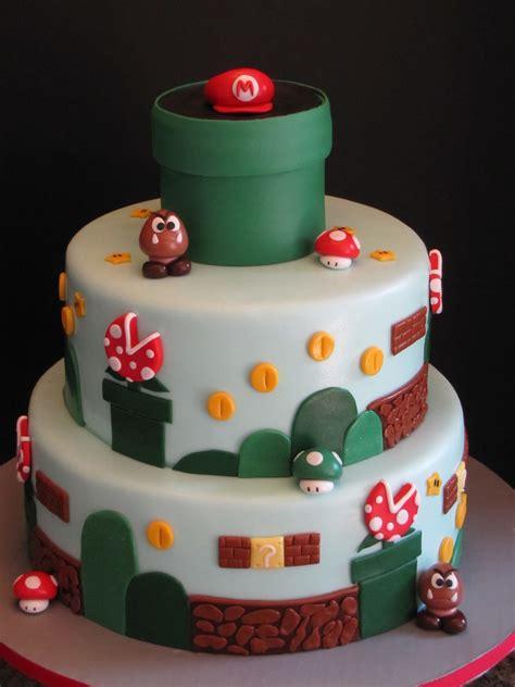 super mario brothers birthday cake cakecentralcom