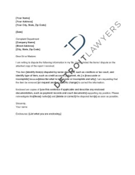 Dispute Letter To Mortgage Company Check The Accuracy Of Your Credit Reports Detroit Lawyers