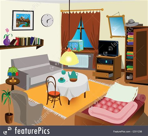 inside room concept room interior stock illustration