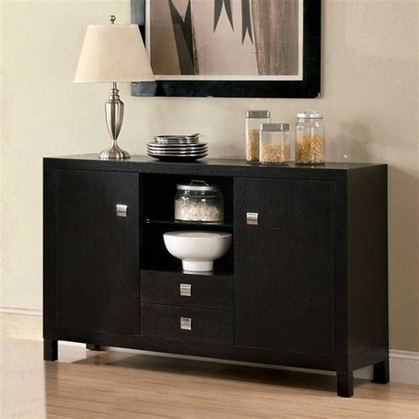 bay side contemporary style espresso finish buffet server
