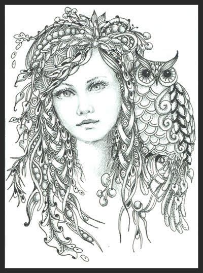 intricate fantasy coloring pages intricate fairy coloring pages fairy of the forest norma