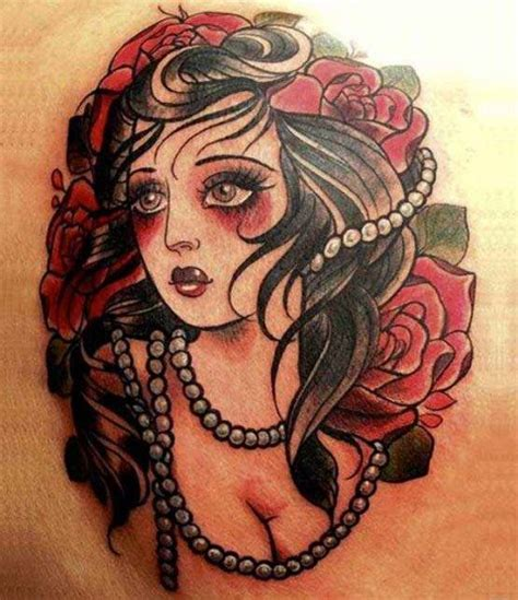 tattoo old school zingara significato tatouages retro vintage et pin up
