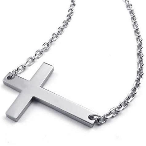 cadena de plata con crucifijo para hombre konov colgante para hombre y mujer cruz lateral crucifijo