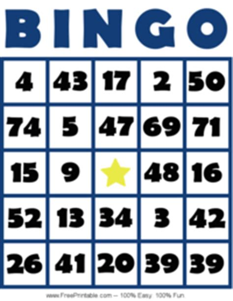 printable number bingo cards 1 75 bingo card 1