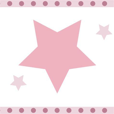 kinderzimmer bordure sterne raschtextil bord 252 re sterne rosa mauve selbstklebend bei