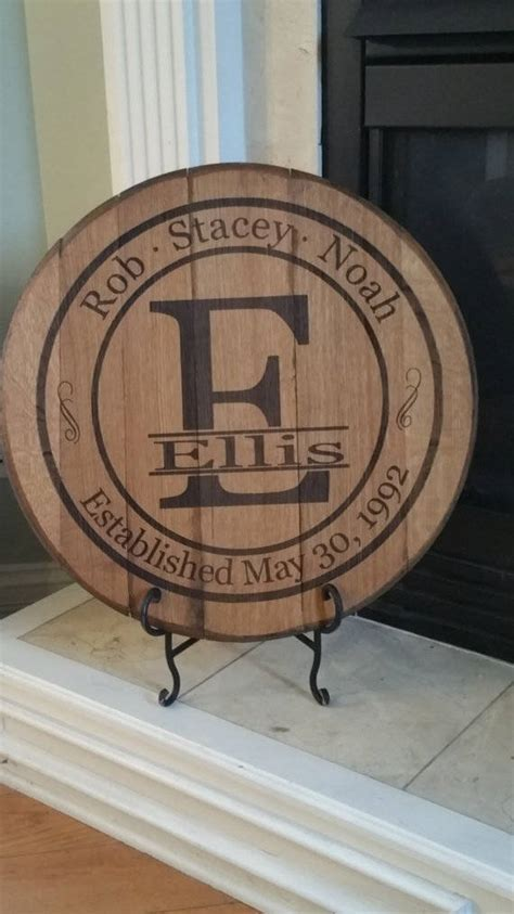 Personalized Bourbon Whiskey Barrel Head ? Perfect Wedding