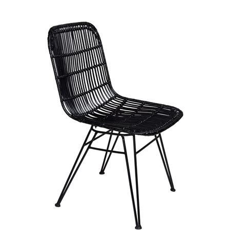 stoelen wit zwart stoel rotan zwart