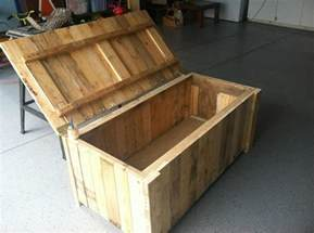 Child S Tool Bench Storage Deck Box From Pallet Wood My Completed Diy