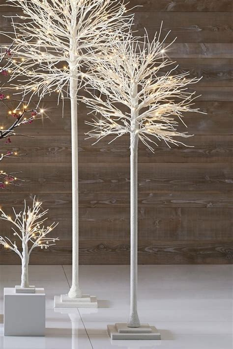 white trees from next contemporary christmas pinterest