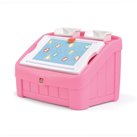 pink toy step 2 pink toy box images