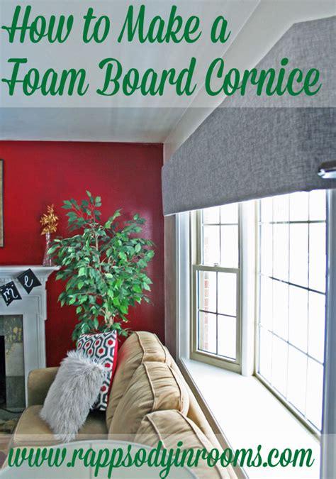 How To Make A Valance Board how to make foam board cornice
