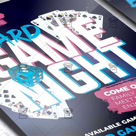 board game night flyer psd template exclusiveflyer