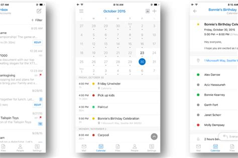 outlook calendar android outlook for ios and android gets a subtle redesign as microsoft to unite email apps cio