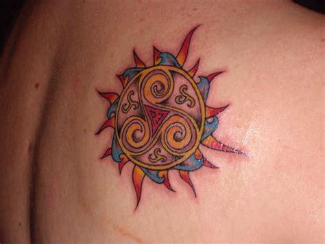 colorful sun tattoo designs colorful celtic sun on back tattooshunt